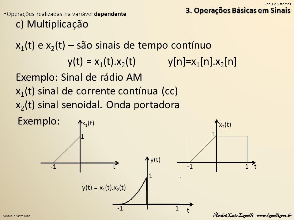 y(t) = x1(t).x2(t) y[n]=x1[n].x2[n]